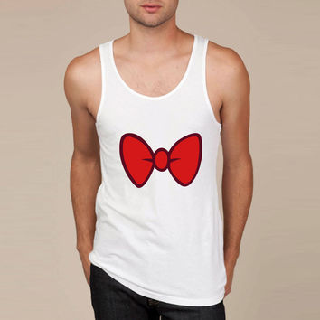 Mickey Mouse style cartoon bow tie for dressing up Tank Top