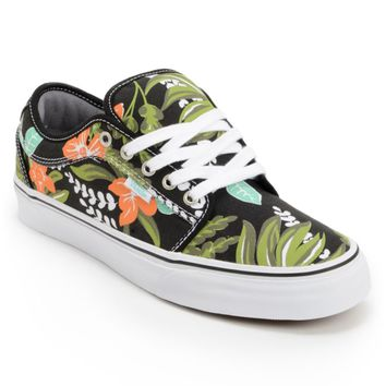 Vans Chukka Low Aloha Black & Mint Canvas Skate Shoes