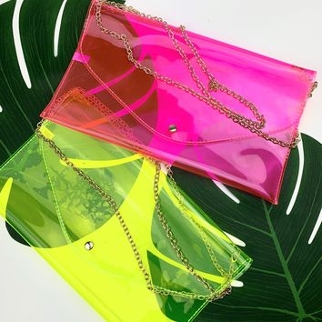 Neon Clear Clutches
