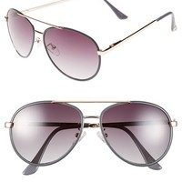 Women's Vince Camuto 58mm Aviator Sunglasses - Gold/