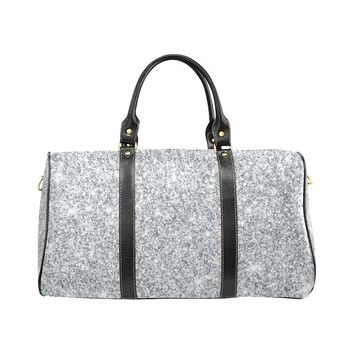 Silver Glitter Travel Bag Black