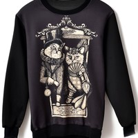 Officer Cat Pattern Sweatshirt - OASAP.com
