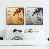 Modern Fashion Simple Animal Deer Art Print Poster Mural in Canvas Painting wall Pictures for Living Room Home Decor AN042