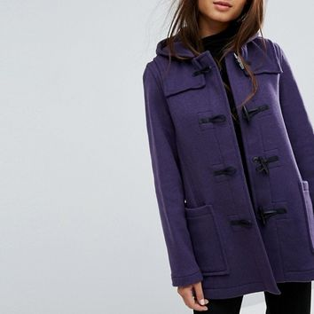 Gloverall Fitted Pannelled Wool Blend Duffle Coat at asos.com