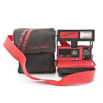 Polaroid 600 Cool Cam Black and Red body Instant Camera with soft case - film Tested and Working