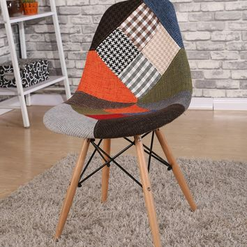 Patchwork Fabric Dining Chair (set of two)