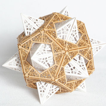 Model Kit - Star Orb - Unique Gift - Geometric Design - Polygon - Lasercut - Architect