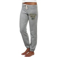NFL Junk Food Green Bay Packers Ladies Sunday French Terry Sweatpants - Heathered Gray (Medium)