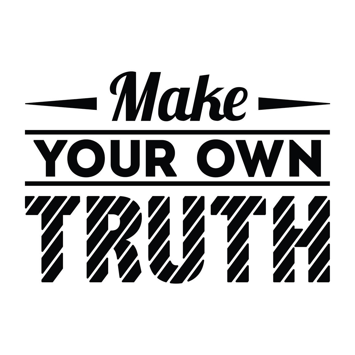 Make Your Own Truth Office Quote Wall from Walls Need Love