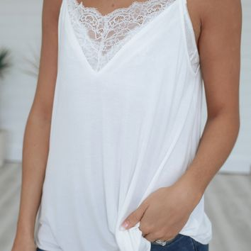 Sinful Perfection Tank - Ivory