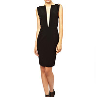 Backless Deep-V Pencil Dress