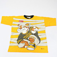 vintage 90s GRAMBLING state GOLDEN TIGERS 50/50 t-shirt one size