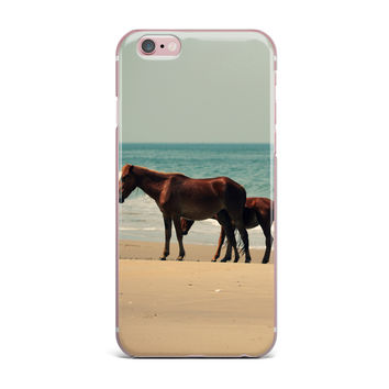 "Robin Dickinson ""Sandy Toes"" Beach Horses iPhone Case"