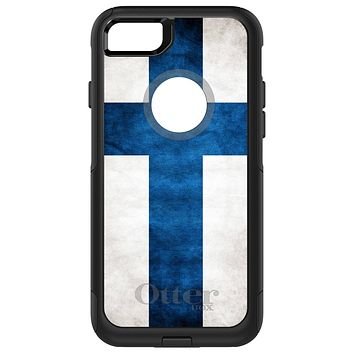 DistinctInk™ OtterBox Commuter Series Case for Apple iPhone or Samsung Galaxy - Finland Old Flag
