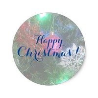 Sticker - Christmas 05 - Customizable Pegatina Redonda