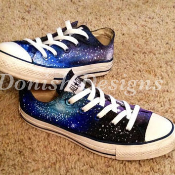 Custom Painted Galaxy Converse Shoes by DonishDesigns on Etsy