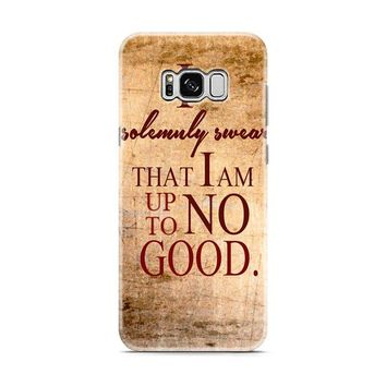 Harry Potter Quotes-I Solemnly Swear That I Am Up To No Good Samsung Galaxy S8 | Galaxy S8 Plus Case