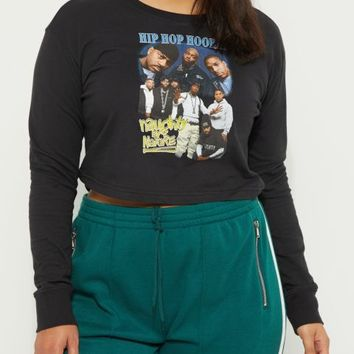 Plus Naughty By Nature Crop Top