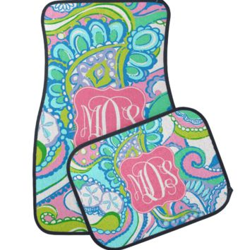 Conch Republic Lilly Inspired Monogram Car Mats