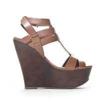 Sabrina Wedges - Dark Tan