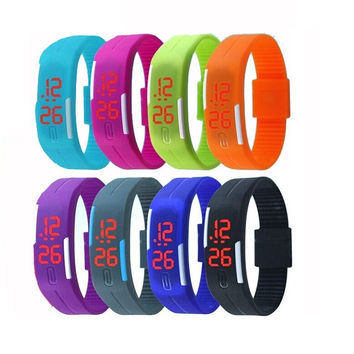 1PC New Arrival Fashion Jewelry Unisex Sport LED Watches Candy Color Silicone Rubber Touch Screen Digital Watches, Womens And Mens Bracelet Bangle Wristwatch Children's Watches BY EZMAX [9791289295]