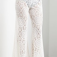 Me To We Lace Beach Pants - Womens Pants - White