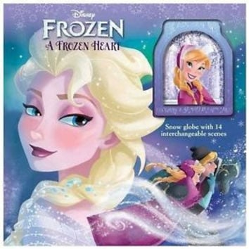 disney anna elsa a frozen heart storybook and snow globe hardcover new