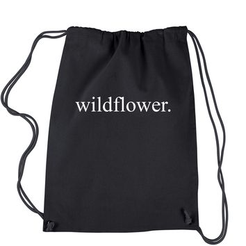 Wildflower Drawstring Backpack