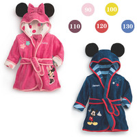 2016 boys girls cartoon Baby bathrobe baby hooded bath towel robe high quality children Bathing Suits