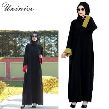 Vintage Casual Muslim Maxi Dress Chiffon Abaya