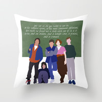 The Breakfast Club Throw Pillow by TeenageNobody