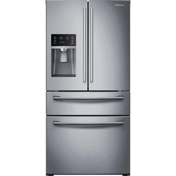 Samsung 28.15 cu. ft. 4-Door French Door Refrigerator in Stainless Steel-RF28HMEDBSR - The Home Depot