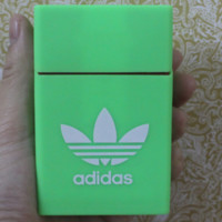 GUCCI  & Adidas & Hello Kitty& KEEP CALM AND LIGHT UP Fashion Style Exquisite Pattern Silicone Cigarette Case Green