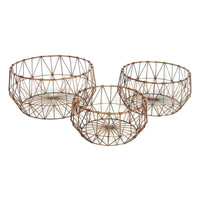 Copper Wire Baskets (Set of 3)
