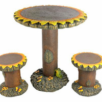 Sunflower Patio Furniture Set - 2 Chairs