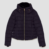 QUILTED JACKET WITH HIDDEN HOODDETAILS