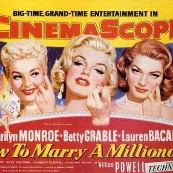 How to Marry a Millionaire 27x40 Movie Poster (1953)