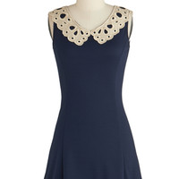 ModCloth Vintage Inspired Short Sleeveless A-line Pretty Place Setting Dress