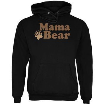 LMFCY8 Mothers Day - Mama Bear Black Adult Hoodie