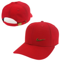 Red Nike Hook Embroidered Adjustable Outdoor Baseball Cap Hats
