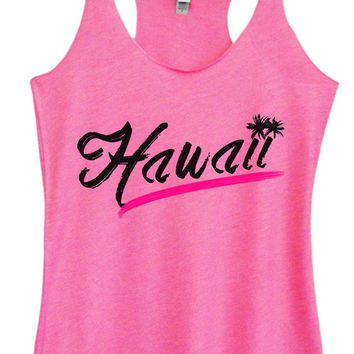 Womens Tri-Blend Tank Top - Hawaii