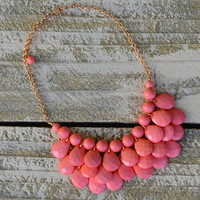 Darlington Coral Beaded Teardrop Statement Necklace