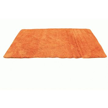Tache Super Absorbent Microfiber Sunny Orange Rug