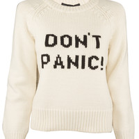 Ivory Don't Panic Sweater