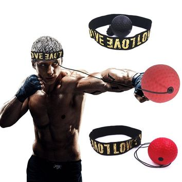 Boxing Reflex Speed Punch Ball MMA Sanda Boxer Raising Reaction Force Hand Eye Training Set Stress Boxing Muay Thai Exercise