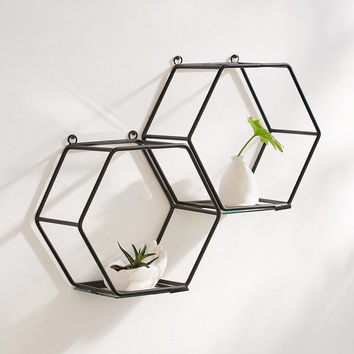 Arabella Hexagon Mirror Shelf | Urban Outfitters