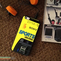 Retro 80's Sports Walkman, Custom Phone Case for iPhone 4/4s, 5/5s, 6/6s, 6/6s+ and iPod Touch 5