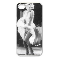 Marilyn Monroe Carrying Case for iPhone 5, Monroe with white dress on