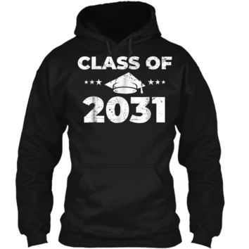Class of 2031  Grow With Me First Day of School  Pullover Hoodie 8 oz