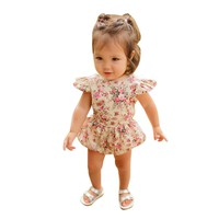 Newborn baby romper summer clothes Infant Kids Baby Girls Floral Romper Jumpsuit Outfit Playsuit baby girls romper Clothes